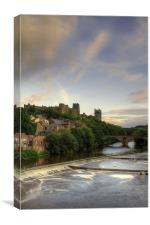 Durham Cathedral Over Framwellgate Bridge, Canvas Print