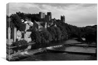 Durham Cathedral b&w, Canvas Print