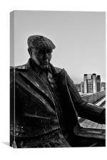 quayside sculpture, Canvas Print