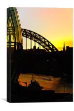 tyne bridge silhouette, Canvas Print