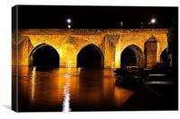 elvet bridge night, Canvas Print