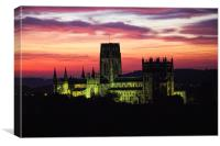 durham cathedral sunrise, Canvas Print
