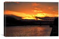 newcastle sunset, Canvas Print