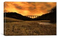 Hownsgill Viaduct, Canvas Print