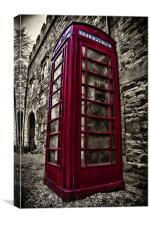 phone box, Canvas Print