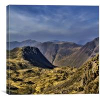 View from Scafell, Canvas Print