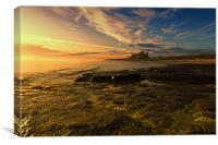 Bamburgh Sunrise, Canvas Print