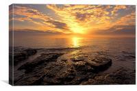 rocky sunrise, Canvas Print
