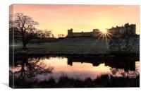Alnwick Castle Sunset, Canvas Print