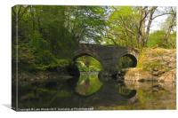 Denham Bridge, Canvas Print
