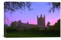 Lydford Church, Canvas Print