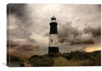 The Old Lighthouse - Spurn Point, Canvas Print