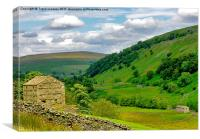 Stone Barns - Yorkshire Dales, Canvas Print