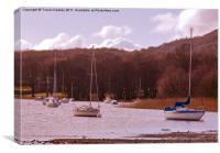 Lake Windermere Boats, Canvas Print