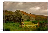Shelters on the Moors, Canvas Print