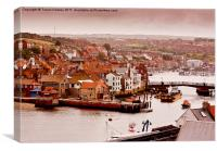 Whitby Town, Canvas Print