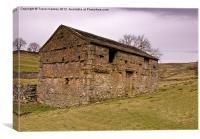 Yorks Dales Stone Barn, Canvas Print
