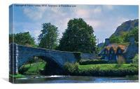 Llanrwst Bridge - Pont Fawr, Canvas Print