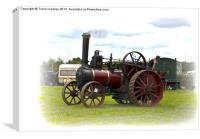 Steam Traction Engine, Canvas Print