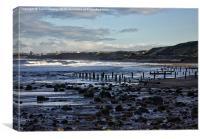 Sandsend Beach, Canvas Print