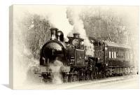 Vintage Steam Train, Canvas Print