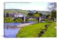 Y Bont Fawr - Llanrwst Bridge, Canvas Print