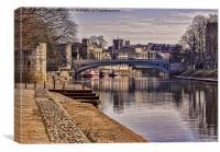 Lendal Bridge York, Canvas Print