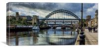 Along The Quayside, Canvas Print