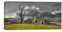 Pendragon Castle Ruins, Canvas Print
