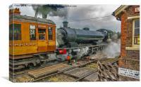 Steam at Levisham Station Crossing, Canvas Print
