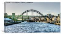 Newcastle Tyne Bridges, Canvas Print