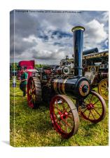 Foster Traction Engine, Canvas Print