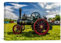 Ransome Steam Tractor, Canvas Print