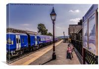 Dent Station Cumbria, Canvas Print