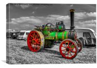 Vintage Steam Traction Engine, Canvas Print