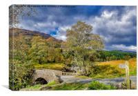Birks Bridge Duddon Valley, Canvas Print