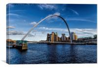 Millennium Bridge Gateshead, Canvas Print