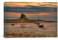 The Castle  Holy Island, Canvas Print