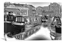 Skipton Canal Basin, Canvas Print