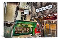 Little Shambles ~ York, Canvas Print