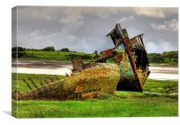 The Marsh Wrecks, Canvas Print