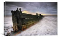The Grubby Groyne, Canvas Print
