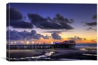 Sunset At North Pier, Canvas Print