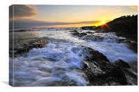 Sunset, Croyde bay, Canvas Print