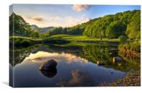 Golden Hour At Elterwater, Canvas Print
