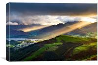 Sunrays Over Keswick, Canvas Print