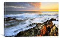 Devonshire Sunset, Canvas Print