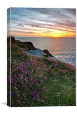 A Cornish Sunset, Canvas Print