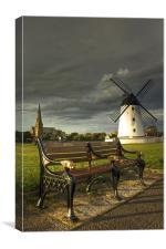 Stormy Skies At Lytham, Canvas Print