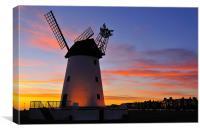 Sunset At Lytham Windmill, Canvas Print